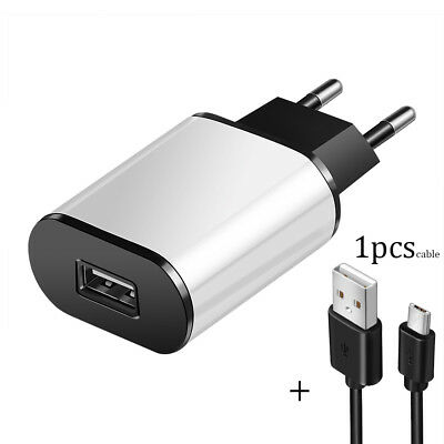 5V 2A EU Dual USB 2-Port Fast Charger Mobile Phone Wall Power Adapter For iPhone 9