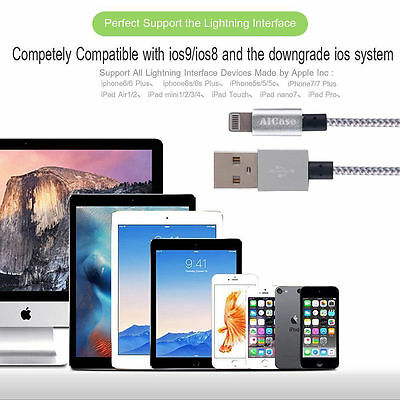 Certified Lightning Cable 3 6 10 FT MFi USB Charger for iPhone XS Max 7 6s Plus 5