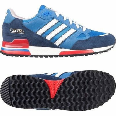 c2f0153dce2c6 1 of 4 Adidas Originals Zx 750 Mens Trainers Bluebird   White   Red Uk  Sizes 7 To 12