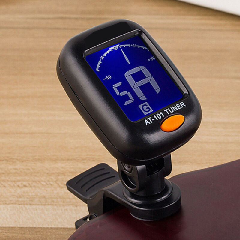 Digital Chromatic LCD Clip-On Electric Tuner for Bass, Guitar, Violin, Ukulele 6