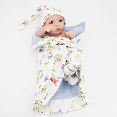 "Lifelike Twins Baby Dolls Full Vinyl Silicone Real Life Doll Babies Girl Boy 10"" 8"