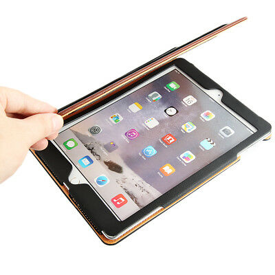 iPad 9.7 6th Generation 2018 Soft Leather Smart Cover Case Sleep Wake For Apple