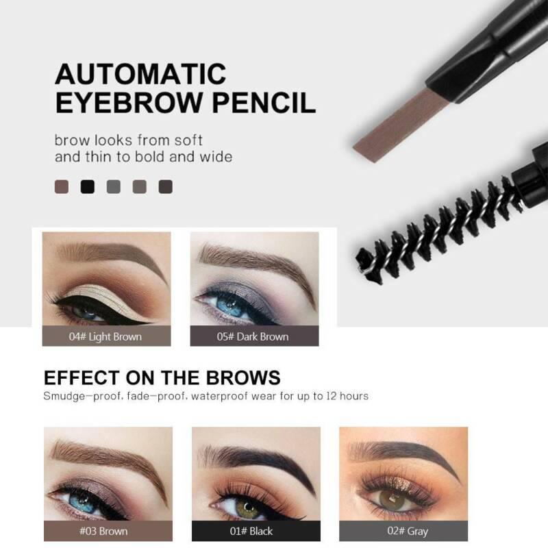 HANDAIYAN 2 in 1 Waterproof Eye Brow Eyeliner Eyebrow Pen Pencil With Brush 10