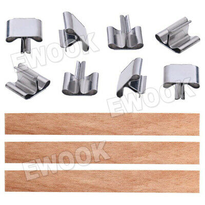 50X Wooden Candle Wicks Core Supplies With Sustainer DIY Soap Making for Party 2
