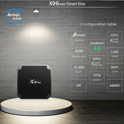 H96Max Smart Box Multimédia Androïd 9.0 Voice Remote RK331 4K 2/4GB 16/32/64GB 8