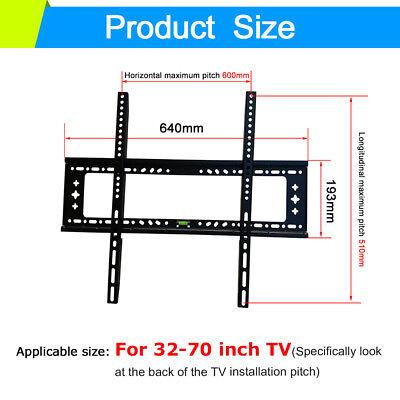 TV Wall Mount Bracket LCD LED Plasma Flat Slim 14 32 40 42 47 50 52 55 60 65 70 6