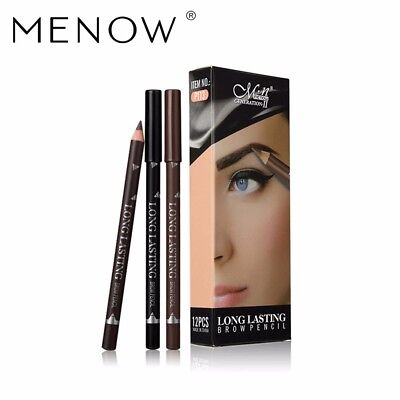 MENOW Brand 12 Pcs Eyebrow Liner Long Lasting Waterproof Make up Eyebrow Pencil 2