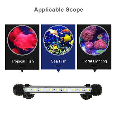 Aquarium Fish Tank 5050 SMD RGB White&Blue Color LED Light Bar Lamp Submersible 5