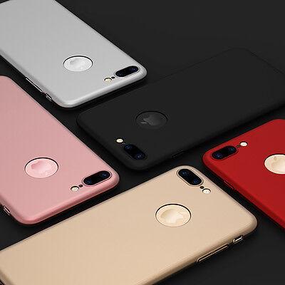 Coque Housse 360 Pour Iphone 6 6S 7 8 5 Xr Xs Max Protection Vitre Verre Trempe 12
