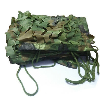 Woodland Camouflage Netting Military Army Camo Hunting Shooting Hide Cover Net 10