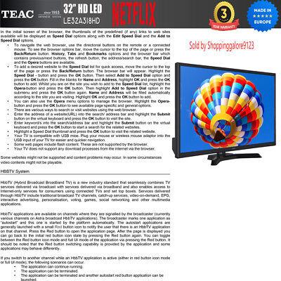 "TEAC 32"" Inch HD SMART TV Netflix Youtube WIFI PVR APP Made Europe 3 Yr Warranty 11"