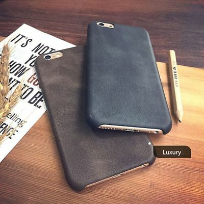Genuine Original PU Leather Thin Slim Case Cover Apple iPhone 10 X 8 7 Plus 6s 5 12