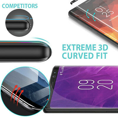 Samsung Galaxy S9 S8 Plus Note 9 8 Full Cover Screen Protector Tempered Glass 2