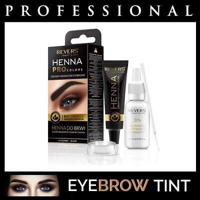 Professional EYEBROW HENNA Brow Eyelash TINT Dye Cream Black Brown Graphite 15ml 4
