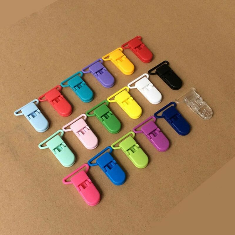 10pcs Colore Plastic Suspender Soother Pacifier Holders Dummy Clips For Baby 7