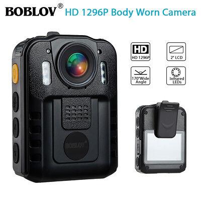 HD 1296P Security Body Worn Camera DVR Police Video Night Vision 170° Waterproof 7