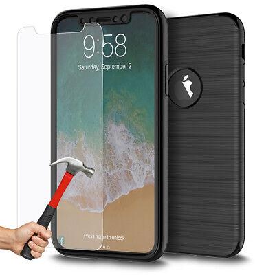 Coque Etui Intégrale 360° Protection iPhone 6/6S/Plus/7/8/X + Film Verre trempé 2