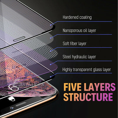 Apple iPhone 11 Pro XS Max XR X Tempered Glass Screen Protector Full 8 7 6s Plus 8