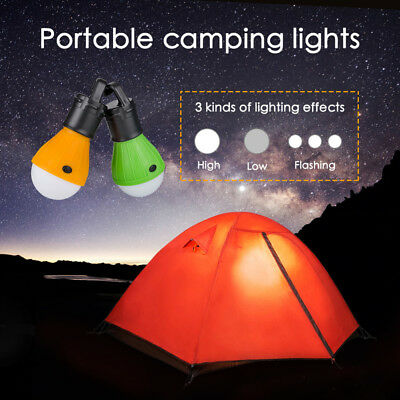 HANGING 3 LED Camping Tent Light Bulb Fishing Lantern Lamp Outdoor NEW UKEB