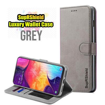Samsung Galaxy A70 A50 A30 A20  A10e A90 Genuine Leather Wallet Flip Case Cover 5