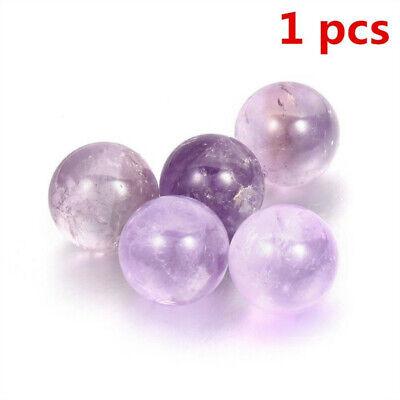 1Pc Natural Amethyst Quartz Stone Sphere Crystal Fluorite Ball Healing Gemstone 3
