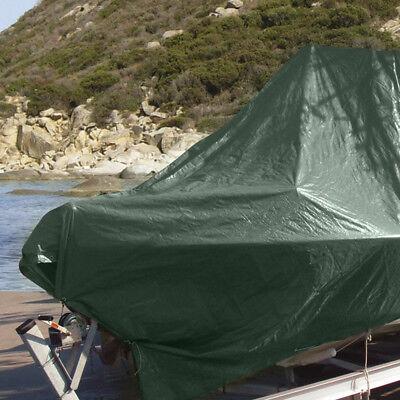Telo Occhiellato Pesante 120 Gr/mq Verde Copertura Protezione Merci Giardino 3
