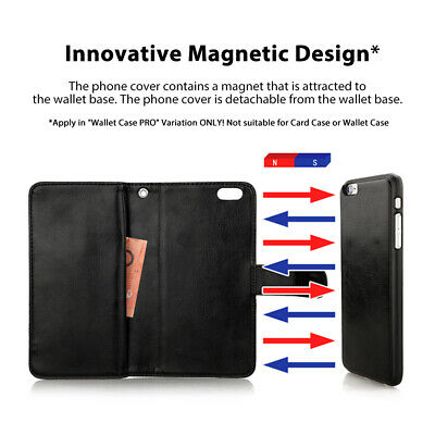For iPhone 11 Pro XS MAX XR 8 7 Plus 6s Wallet Magnetic Flip Leather Case Cover 4