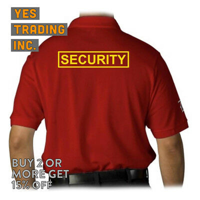 Mens Security Polo Shirt Law Enforment Police Shirts Safety Work Uniform Guard 6