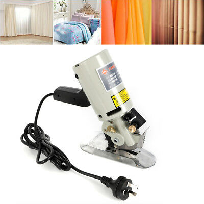 90MM Rotary Blade Electric Fabric Cutter Round Cut Cloth Cutting Machine 110V US 5