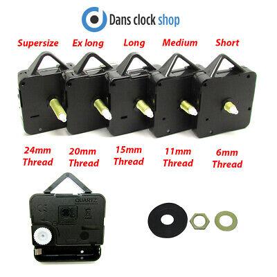 New Replacement Quartz Clock Movement Mechanism Motor Metal Hands Fittings 2