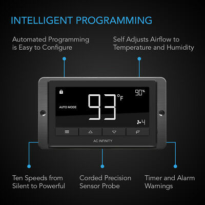 "AIRTITAN T7, Ventilation Fan 12"" for Crawl Space, Basement, Garage, Attic"