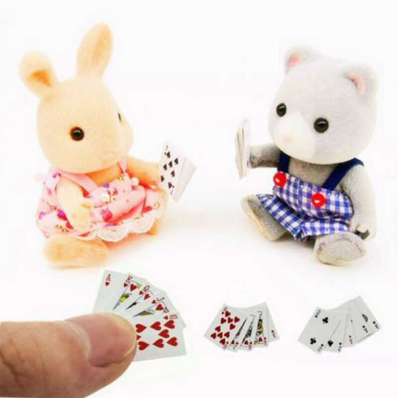 Mini Cute 1:12 Dollhouse Miniatures Poker Home Decoration Poker Playing Cards 4