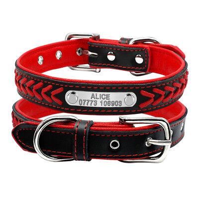 Collar de piel para perro grande suave Personalizable Collar grabado para perro 8