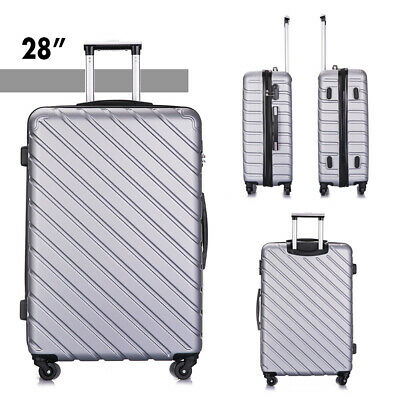 4 Piece Nested Travel Luggage Set Lightweight Suitcase Spinner Hardshell w/Lock 8