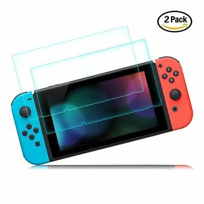 2 Pack Nintendo Switch Console PREMIUM TEMPERED GLASS Screen Protector Cover 2
