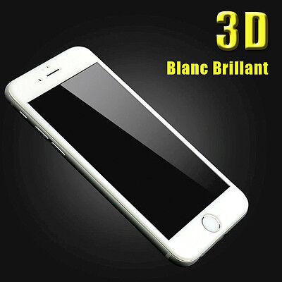 iPhone 6S/6/7/Plus 8/X VITRE EN VERRE TREMPE 3D Film Protection Ecran Intégral 7