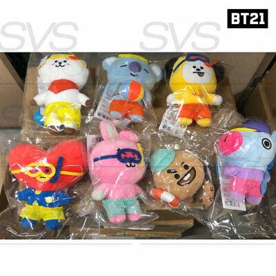BTS BT21 Official Authentic Goods Von Voyage Summer Doll 15cm 5.9in + Tracking# 3