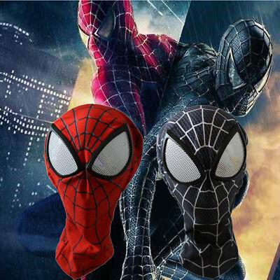 Amazing Spider-Man Mask Digital Printing Hood Cosplay Spiderman Red Headwear