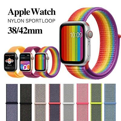 For Apple Watch Series 5/4/3/2 Nylon Sports Loop iWatch Band Strap 38/40/42/44mm 2