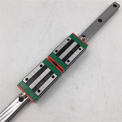 25mm HIWIN Linear Guide Rail HGR25 800mm & 2pcs HGH25CA Rail Block Slider CNC 6