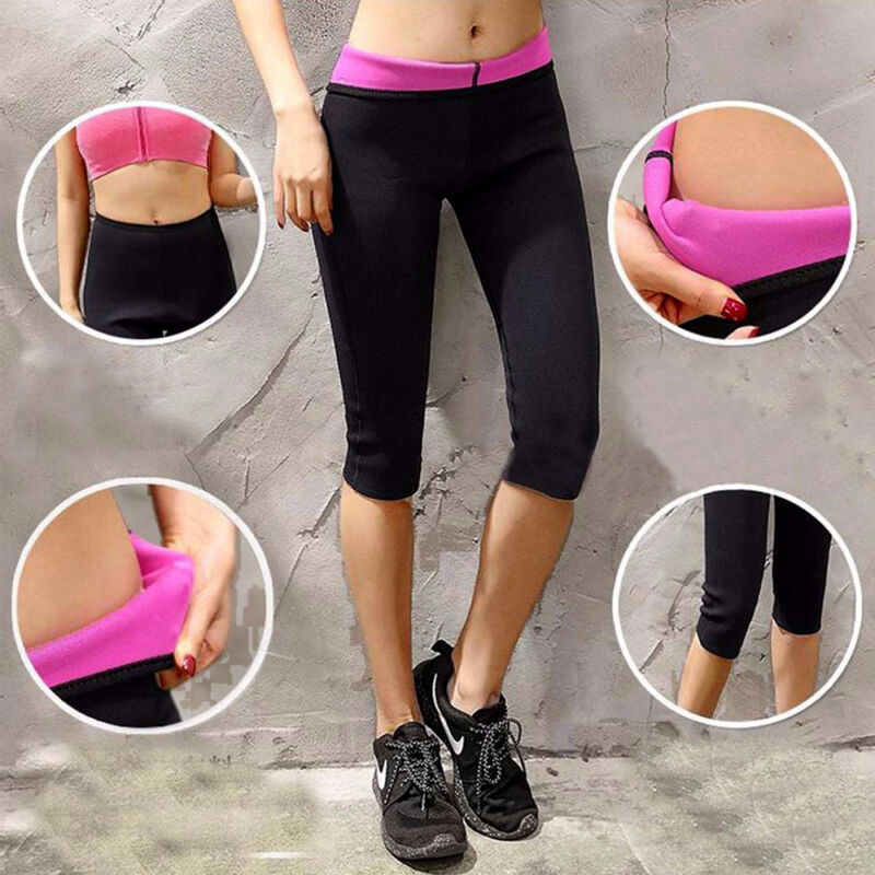 818d304e2d Hot Women Thermo Neoprene Body Shaper Weight Loss Sweat Suit Sauna Yoga  Pants LC 5 5 of 12 ...