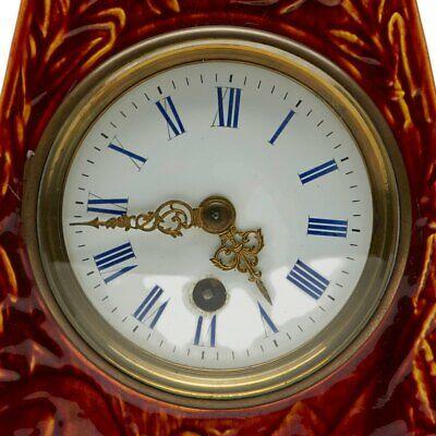 Burmantofts Faience Mantel Clock With Sphinx 9