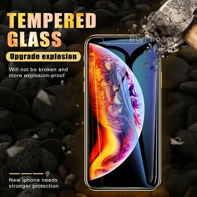 2x Nuglas Tempered Glass Screen Protector For iPhone 11 Pro XS Max X 8 7 6S Plus 9
