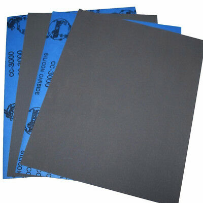 1Sheet 80-2000 Grits Wet/dry Sandpaper Polishing Silicon Carbide 9''x11'' Water 7