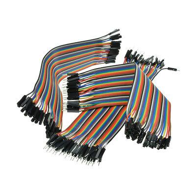 FF Wire Buchse Stecker Breadboard MF 120 Stk Jumper Kabel 11 CM 3er Set MM