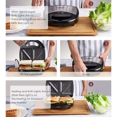 Laptronix 3 In 1 Sandwich Grill Waffle Maker Non-Stick Toaster Panini Press 750w 5