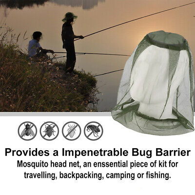 Mosquito Fly Head Net Mesh Hat Bee Insect Bug Mozzie Protector Outdoor Fishing 2