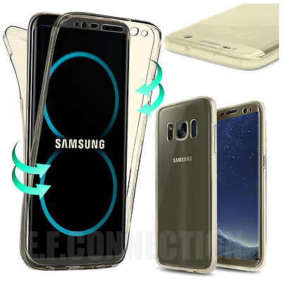 Coque Housse 360° FULL Silicone Tactile Pour Samsung S6 S7 S8 PLUS S9 Note 8 9 8