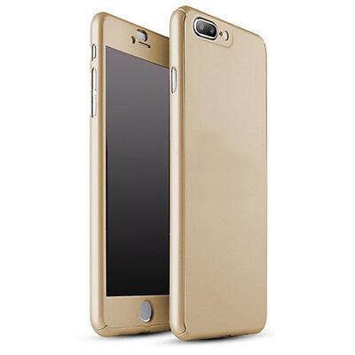 Coque Etui + Verre Trempe Protection Integrale 360 iPhone 6 6S 7 8 Plus X 5S SE 5
