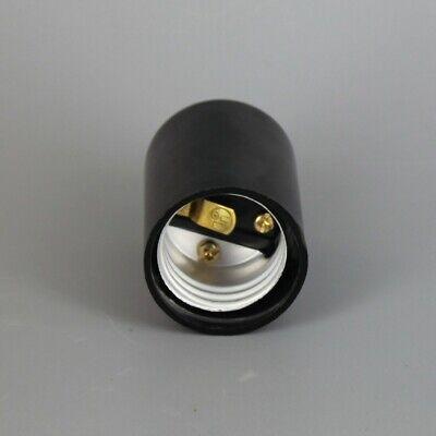 Black Plastic Husk 2 Piece Bottom Turn Knob Lamp Socket Medium Base 30147J 3